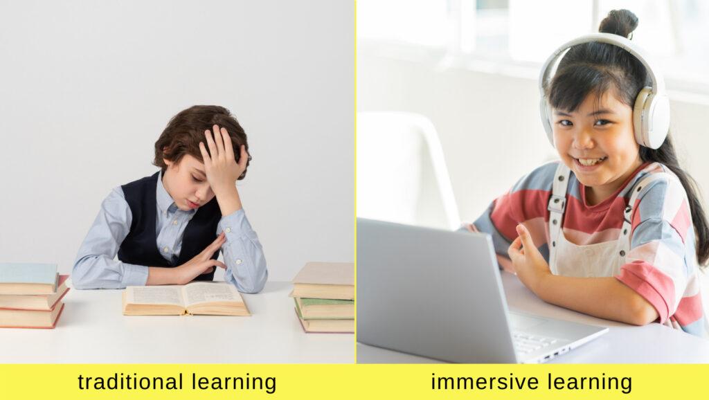Alienino immersive learning